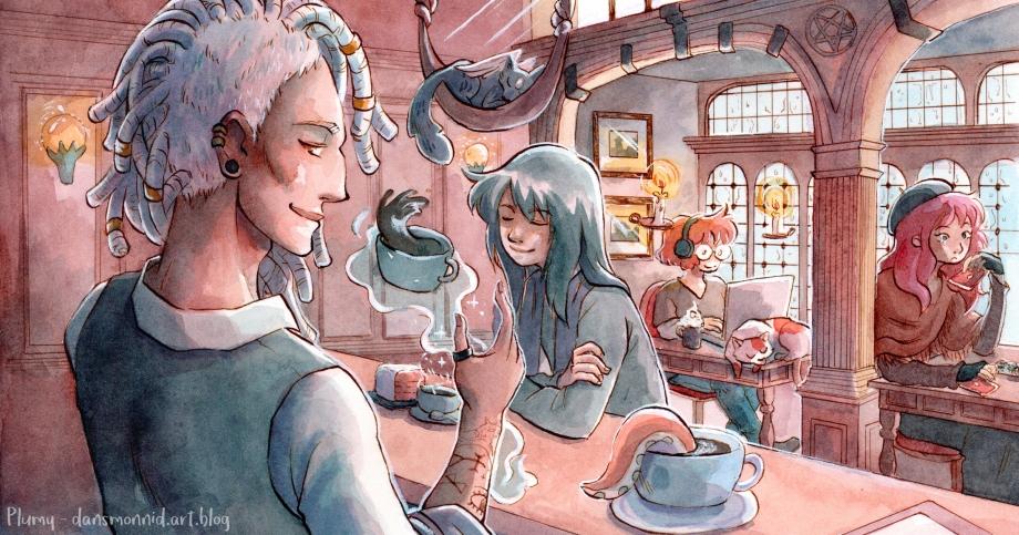 2018 - Illustration réalisée pour l'instance Mastodon Eldritch Café